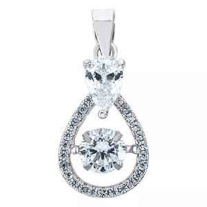 925 Sterling Silver Simulated Diamond Pendant